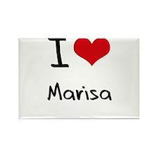 I Love Marisa Rectangle Magnet