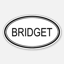 Bridget Oval Design Oval Decal