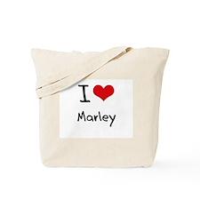 I Love Marley Tote Bag