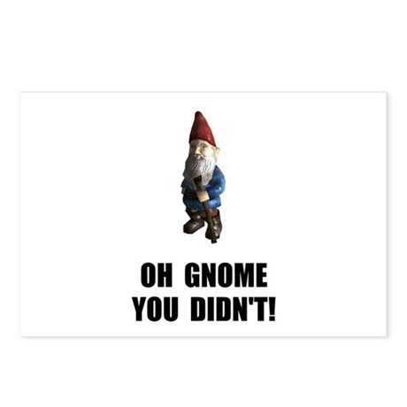 Gnome You Didnt Postcards (Package of 8)