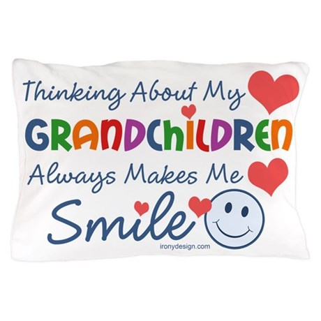 I Love My Grandchildren Pillow Case