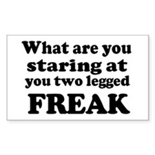 Two legged Freak Decal