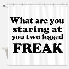Two legged Freak Shower Curtain