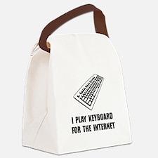 Keyboard Internet Canvas Lunch Bag