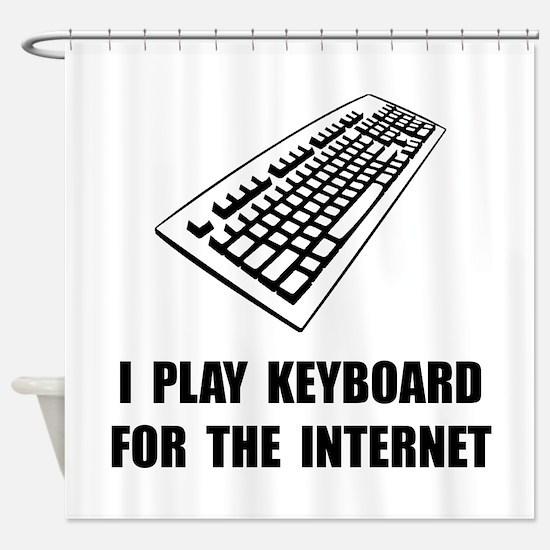 Keyboard Internet Shower Curtain