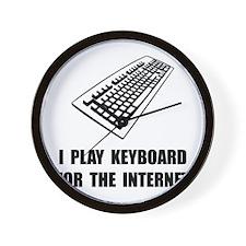 Keyboard Internet Wall Clock
