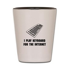 Keyboard Internet Shot Glass