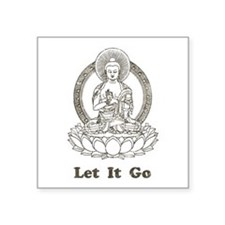 Vintage Buddha Let It Go Sticker