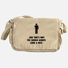 Leave A Note Messenger Bag