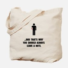 Leave A Note Tote Bag