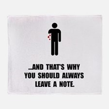 Leave A Note Throw Blanket