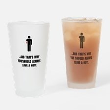 Leave A Note Drinking Glass