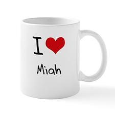 I Love Miah Small Mug