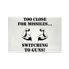 Missiles To Guns Rectangle Magnet (10 pack)