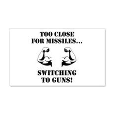 Missiles To Guns Wall Decal