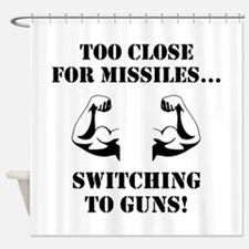Missiles To Guns Shower Curtain