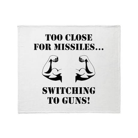 Missiles To Guns Throw Blanket