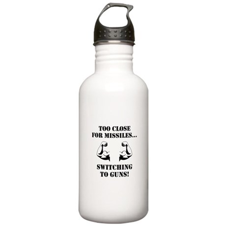 Missiles To Guns Water Bottle