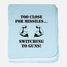Missiles To Guns baby blanket