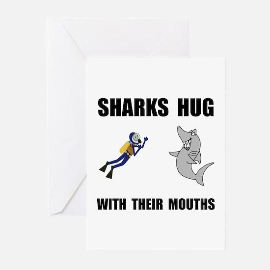 Sharks Hug Greeting Cards (Pk of 20)