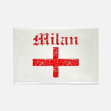 Milan City Flag Rectangle Magnet
