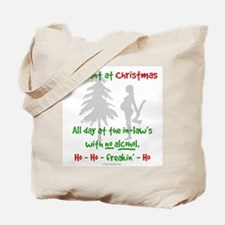 Funny, snarky pregnant at Christmas Tote Bag