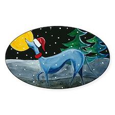 Greyhound, Italian Greyhound, Oval Decal