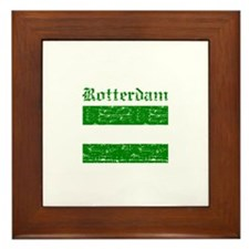 Rotterdam City Flag Framed Tile