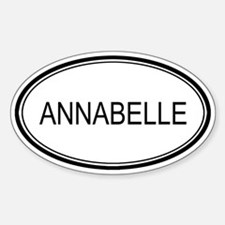 Annabelle Oval Design Oval Decal