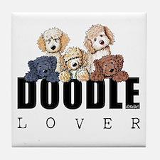 Doodle Lover Tile Coaster