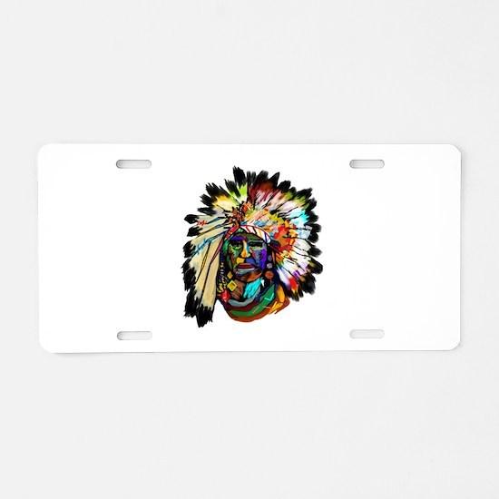 Cute Native american braves chiefs Aluminum License Plate