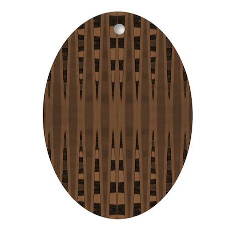 Brown Black Modern Ornament (Oval)