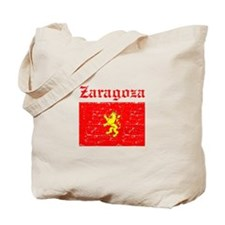Zaragoza City Flag Tote Bag