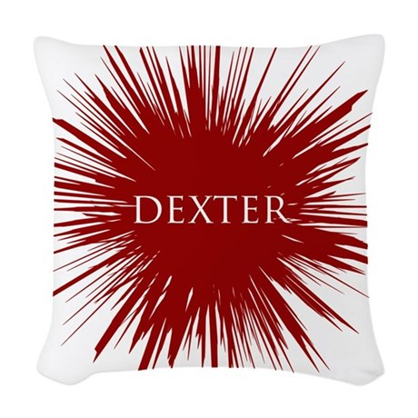Bloody Dexter Woven Throw Pillow