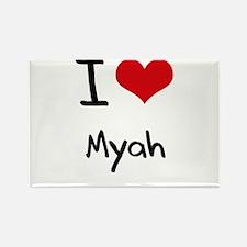 I Love Myah Rectangle Magnet