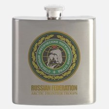 Russian Artic Troops Badge Flask
