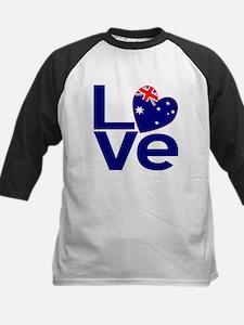 Blue Australian LOVE Baseball Jersey