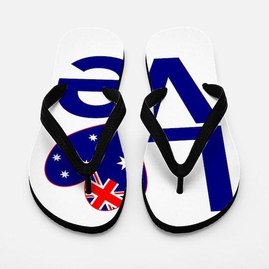 Blue Australian LOVE Flip Flops