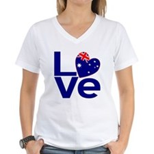 Blue Australian LOVE T-Shirt