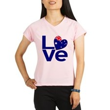 Blue Australian LOVE Peformance Dry T-Shirt