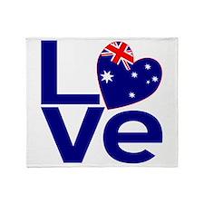 Blue Australian LOVE Throw Blanket