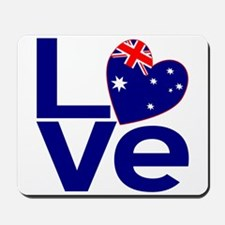 Blue Australian LOVE Mousepad