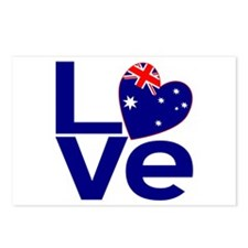Blue Australian LOVE Postcards (Package of 8)