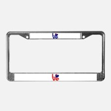Blue Australian LOVE License Plate Frame
