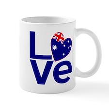 Blue Australian LOVE Mug