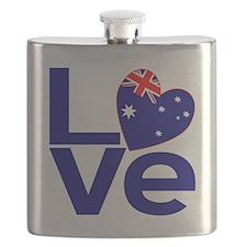 Blue Australian LOVE Flask