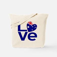 Blue Australian LOVE Tote Bag
