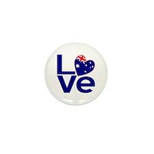 Blue Australian LOVE Mini Button (10 pack)