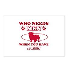 Funny Glen lover designs Postcards (Package of 8)