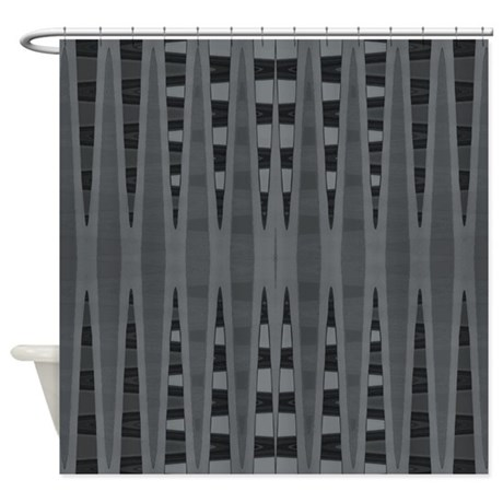 Grey Black Modern Shower Curtain By BrightVibesDesign
